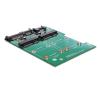 DELOCK 2db mSATA -> SATA 22pin SATA F/M konverter kábel és adapter