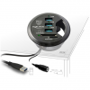 DELOCK USB 3.0 kártyaolvasó fekete asztalba építhető