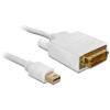 DELOCK Displayport mini -> DVI-D M/M video jelkábel 3m fehér