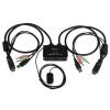 Startech HDMI 2 portos USB KVM switch integrált kábelekkel