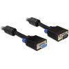 DELOCK VGA M/F video jelkábel 1m hosszabbító fekete