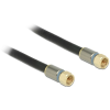 DELOCK F -> F RG-6/U M/M antenna kábel 7.5m Premium fekete