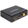 DELOCK HDMI -> HDMI Jack stereo 3,5mm Toslink Standard RCA F/F adapter