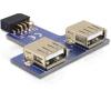 DELOCK USB Pinheader -> 2db USB A F/F adapter