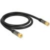 DELOCK F F/F antenna kábel 1m RG-6/U fekete