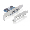 DELOCK USB Pinheader 2db SATA -> 2db eSATApd M/F hátlapi kivezetés low profile