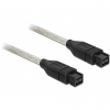 DELOCK Firewire 9pin M/M adatkábel 1m fekete