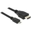 DELOCK MHL -> HDMI 4K M/M adatkábel 5m fekete