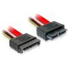DELOCK Slim SATA 13 pin M/F adatkábel 0.7m piros