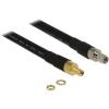 DELOCK SMA M/F antenna kábel 0.4m CFD400/LLC400 fekete