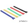 DELOCK Hurkolható rögzítők, 240 x 12 mm (H x Sz), 10 darab, színes