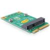 DELOCK mini PCI-E x1 half-size > full-size mini PCI-E x1 adapter