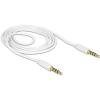DELOCK Jack stereo 3,5mm (4pin) M/M audio kábel 1m fehér