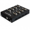 DELOCK USB B -> 8db Serial RS-232 F/M adapter fekete