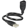DELOCK USB A M/F adatkábel 0.5m (ShapeCable)