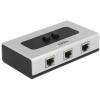 DELOCK 2 portos manuális Giagabit switch