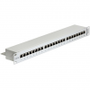 DELOCK 24 portos Cat.6 szürke 19' RJ45 Patch Panel