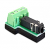 DELOCK Jack stereo 3,5mm (4pin) Terminal block 4pin F/F adapter