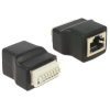 DELOCK RJ45 -> Terminal block 8pin F/F adapter fekete