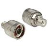 DELOCK N -> F F/M adapter nikkel