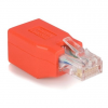 Startech RJ45 CAT6 UTP M/F adapter Crossover piros