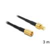 DELOCK SMB M/F antenna kábel 3m RG-174 fekete