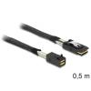 DELOCK SAS mini SFF-8643 -> SAS mini SFF-8087 M/M adatkábel 0.5m fekete