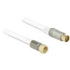 DELOCK F -> IEC RG-6/U M/M antenna kábel 1m Premium fehér