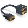 DELOCK VGA -> VGA DVI 29 M/F adapter 0.2m fekete