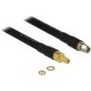 DELOCK RP-SMA M/F antenna kábel 4m CFD400/LLC400 fekete