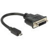 DELOCK HDMI micro D -> DVI-D M/F adapter 0.2m
