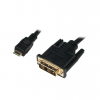 LogiLink Mini HDMI to DVI-D Cable, M/M, 2.0m