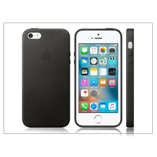 Apple iPhone 5/5S/SE eredeti gyári bőr hátlap - MMHH2ZM/A - black tok és táska