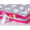 Pihe puha minky takaró - Szürke pink bagoly