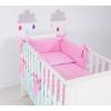 Babaágynemű garnitúra 3 részes huzat - Rózsaszín álom