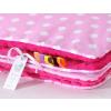 Pihe puha minky takaró - Pink-rózsaszín pöttyös