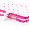 Pihe puha minky takaró - Fehér, pink-szürke csillagos