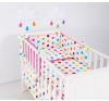 Babaágynemű garnitúra 2 részes huzat - Pink pöttyös babaágynemű, babapléd