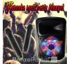Karaoke hangfal party fénnyel + 2 db vezetéknélküli mikrofon - 100W teljesítmény party kellék