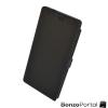 Mágneszáras ultravékony flip tok - fekete - Huawei P8 kompatibilis