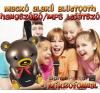 Mackó alakú Bluetooth hangszóró/mp3 lejátszó - mikrofonnal, távirányítóval távirányítós modell