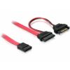 DELOCK Cable Slim SATA 13pin > 7pin SATA + SATA Power (84418)