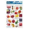 Matrica, angol nyelvoktató, 18x25,5cm, gyümölcsök