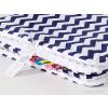 Pihe puha minky takaró - Sötétkék-fehér cikk cakk