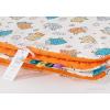 Pihe puha minky takaró - Narancs, fehér barik