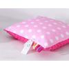 Minky párna - Pink rózsaszín pöttyös