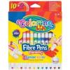 Colorino filctollkészlet 10+2db-os (2db fluo szín), JUNIOR 3+