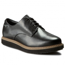 Clarks Oxford cipők CLARKS - Glickdarby Gtx 261204254 Black Leather