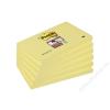 3M POSTIT Öntapadó jegyzettömb csomag, 76x127 mm, 6x90 lap, 3M POSTIT Super Sticky, sárga (LP6556SSCYEU)