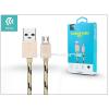 Devia USB - micro USB adat- és töltőkábel 1 m-es vezetékkel - Devia Fashion Cable - champagne gold